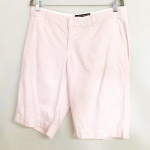Tommy Hilfiger Women's Pink Striped Shorts Size 14